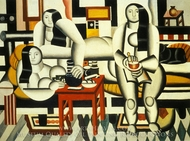 Three Women (Le Petit Dejeuner) painting reproduction, Fernand Leger