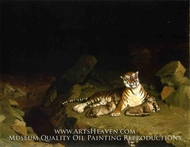Tigress and Her Cubs by Jean-Leon Gerome