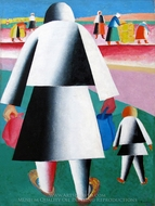 To Harvest (Martha and Vanka) painting reproduction, Kasimir Malevich