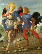 Tobias and the Angel painting reproduction, Andrea Del Verrocchio