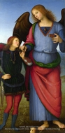 Tobias with the Archangel Raphael by Pietro Perugino