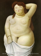 Torso painting reproduction, Fernando Botero