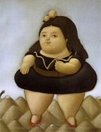 Tour of the Volcano painting reproduction, Fernando Botero