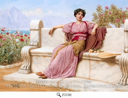 Painting Reproduction of Tranquility, John William Godward