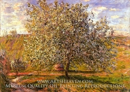 Tree in Flower near Vetheuil by Claude Monet
