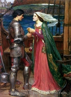 Tristan and Isolde with the Potion painting reproduction, John William Waterhouse