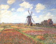 Tulip Fields in Holland painting reproduction, Claude Monet