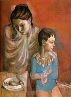 Tumblers (Mother and Son) painting reproduction, Pablo Picasso (inspired by)