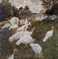 Turkeys painting reproduction, Claude Monet
