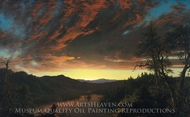 Twilight in the Wilderness painting reproduction, Frederic Edwin Church