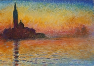 Twilight, Venice painting reproduction, Claude Monet