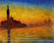 Twilight, Venice by Claude Monet