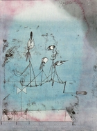 Twittering Machine painting reproduction, Paul Klee