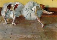 Two Ballet Dancers painting reproduction, Edgar Degas