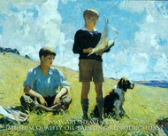Two Boys by Frank W. Benson