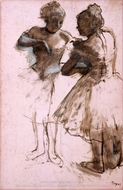 Two Dancers painting reproduction, Edgar Degas