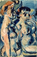 Two Nudes by Georges Rouault