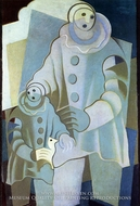 Two Pierrots by Juan Gris