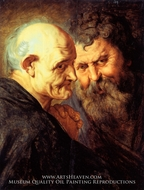 Two Saints by Peter Paul Rubens