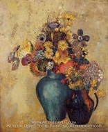 Two Vases of Flowers by Odilon Redon