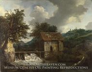 Two Watermills and an Open Sluice at Singraven by Jacob Van Ruisdael