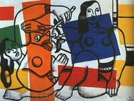 Two Women Holding Flowers painting reproduction, Fernand Leger