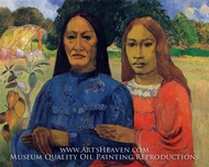 Two Women (Mother and Daughter) by Paul Gauguin