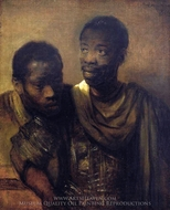 Two Young Africans painting reproduction, Rembrandt Van Rijn