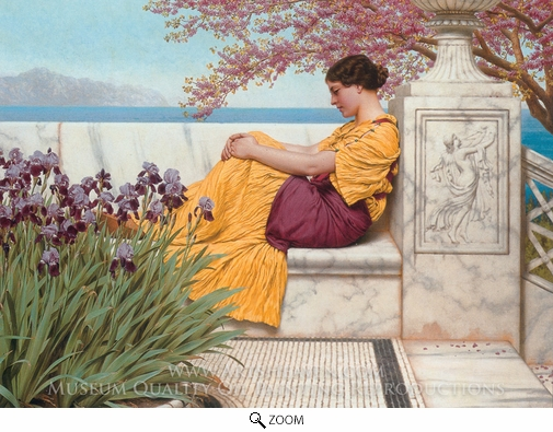 Painting Reproduction of Under the Blossom that Hangs on the Bough, John William Godward
