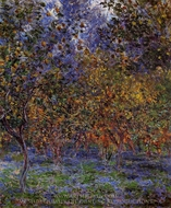 Under the Lemon Trees painting reproduction, Claude Monet