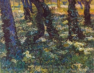 Undergrowth painting reproduction, Vincent Van Gogh