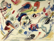 Untitled painting reproduction, Wassily Kandinsky