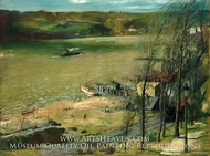 Up the Hudson by George Bellows