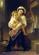 Up You Go (Le Lever) by William Adolphe Bouguereau