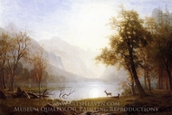 Valley in Kings Canyon painting reproduction, Albert Bierstadt