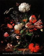 Vase of Flowers by Jan De Heem