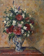 Vase of Flowers by Camille Pissarro