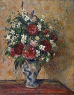 Vase of Flowers painting reproduction, Camille Pissarro