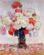Vase of Peonies painting reproduction, Claude Monet