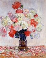 Vase of Peonies by Claude Monet