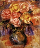Vase of Roses painting reproduction, Pierre-Auguste Renoir