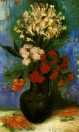 Vase with Carnations and other Flowers painting reproduction, Vincent Van Gogh
