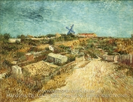 Vegetable Gardens in Montmartre painting reproduction, Vincent Van Gogh