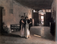 Venetian Interior painting reproduction, John Singer Sargent