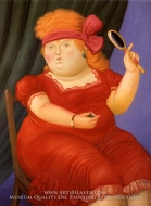 Venus painting reproduction, Fernando Botero