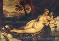 Venus and Cupid painting reproduction, Tizian