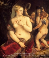Venus in Front of the Mirror painting reproduction, Titian