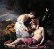 Venus Lamenting the Death of Adonis painting reproduction, Benjamin West