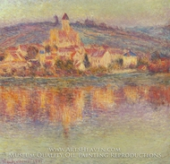 Vetheuil, at Sunset by Claude Monet