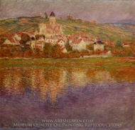 Vetheuil, Effect Rose painting reproduction, Claude Monet